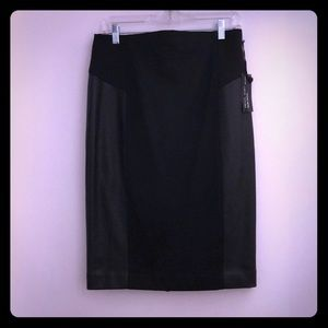 Express studio pencil skirt w/leather panels